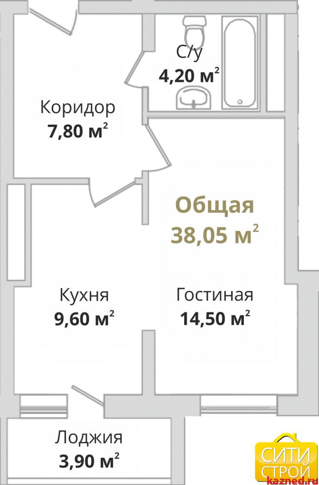 Продажа 1-к квартиры Гвардейская, 38 м2  (миниатюра №2)