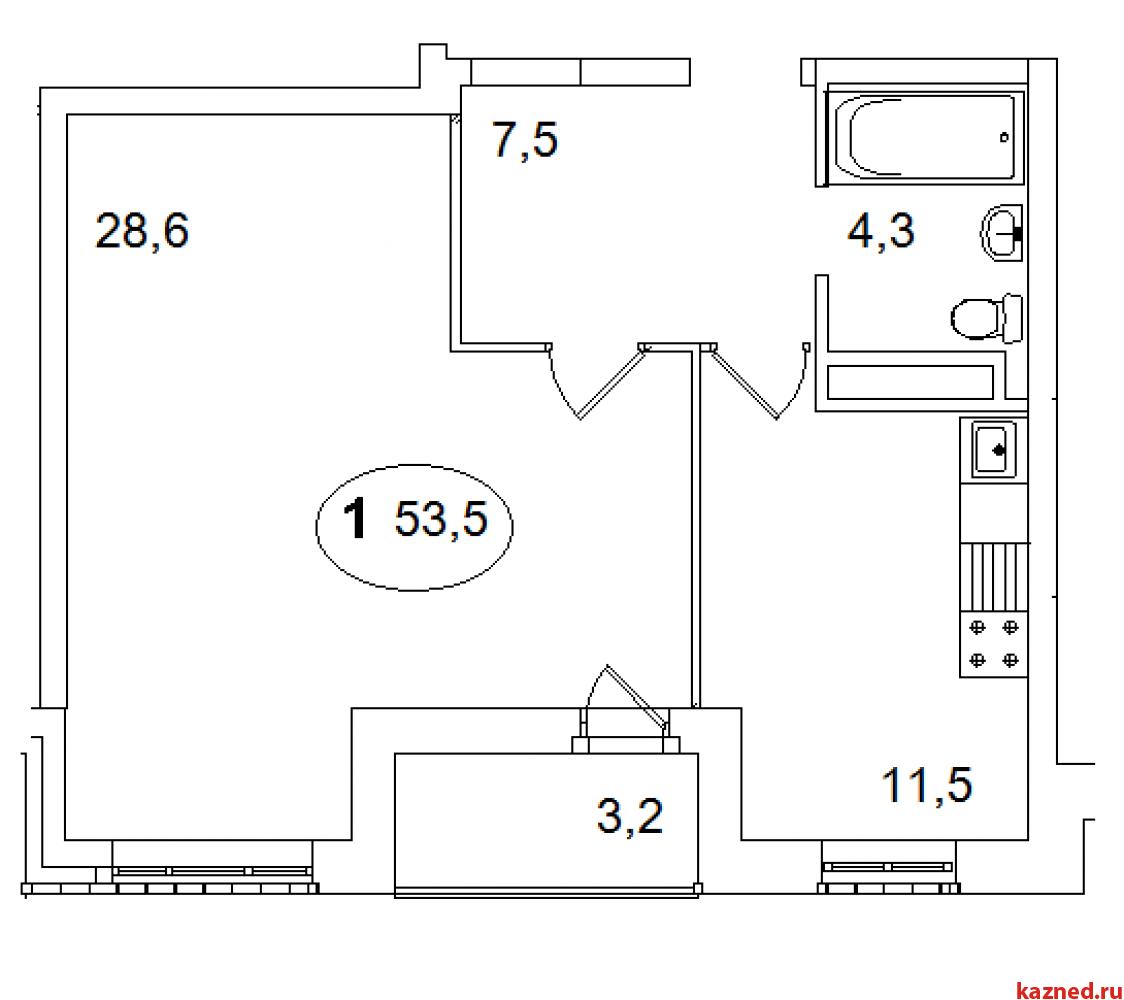 1-ком кв-ра 53,5 кв.м. Дом сдан! (миниатюра №2)