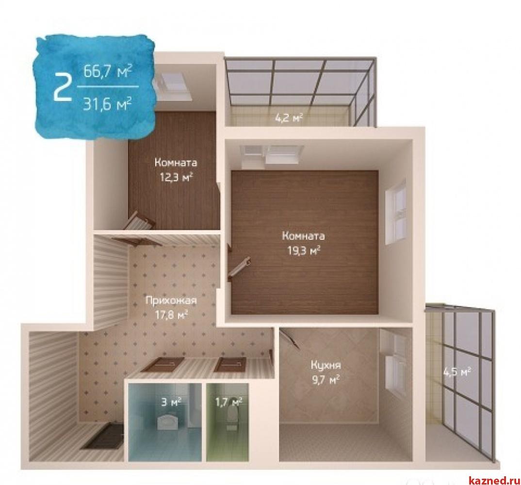 Продажа 2-к квартиры Адоратского 1 стр, 67 м2  (миниатюра №2)