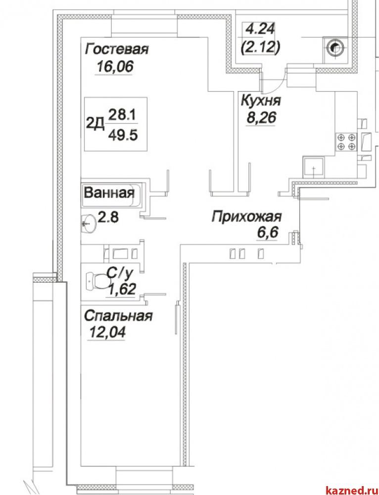 2-комнатная квартира ул. Гоголя, г. Зеленодольск (миниатюра №6)