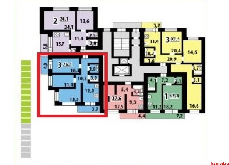 Продажа 3-к квартиры Заслонова, 76 м2  (миниатюра №2)