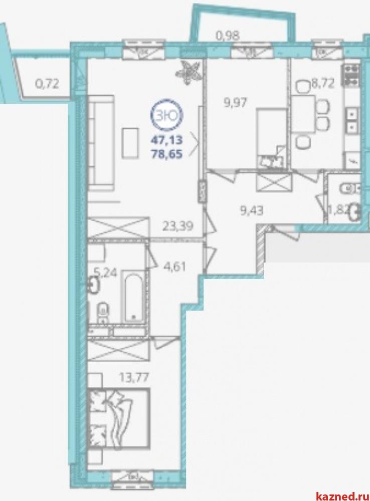 Продам 3-комн.квартиру Дубравная 28а, 80 м2  (миниатюра №6)