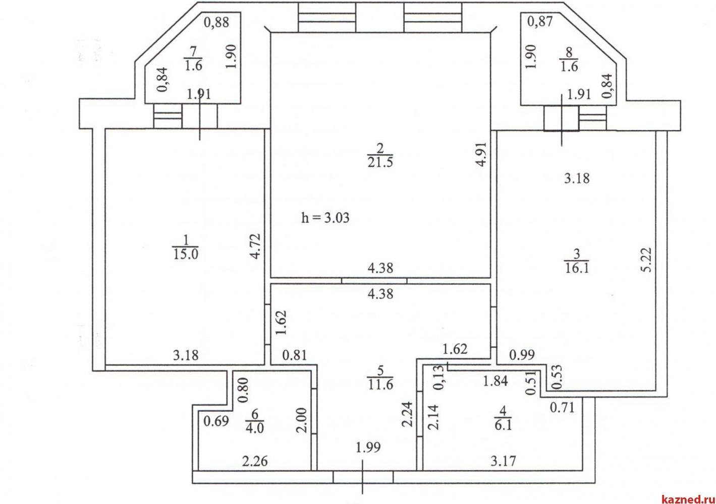 Продажа 2-к квартиры Профессорский пер., 3, 74 м²  (миниатюра №3)