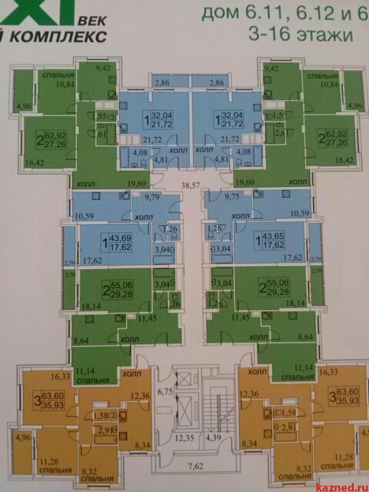 Продажа 3-к квартиры Альберта Камалеева, 34а, 63 м²  (миниатюра №3)