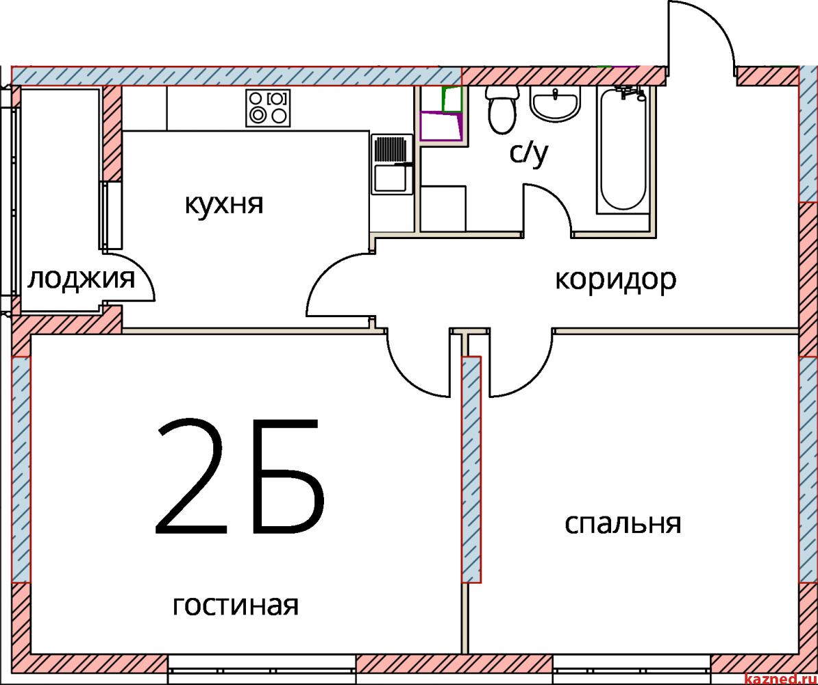 Продажа 2-к квартиры Кул Гали, 3, 47 м2  (миниатюра №1)