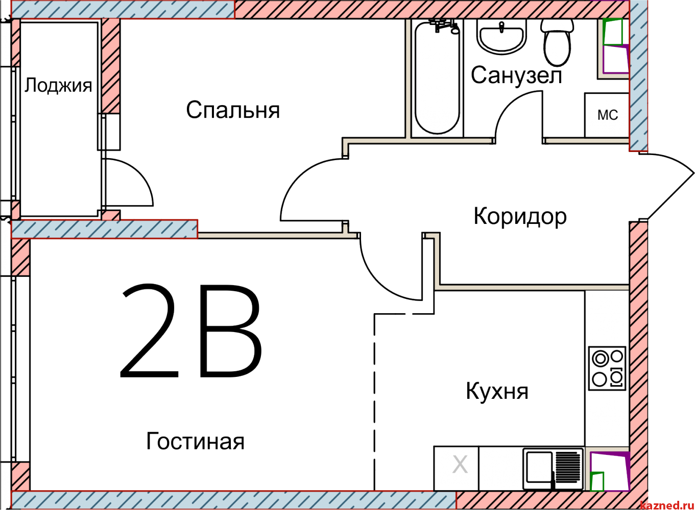 Продажа 2-к квартиры Кул Гали, 3, 47 м2  (миниатюра №2)