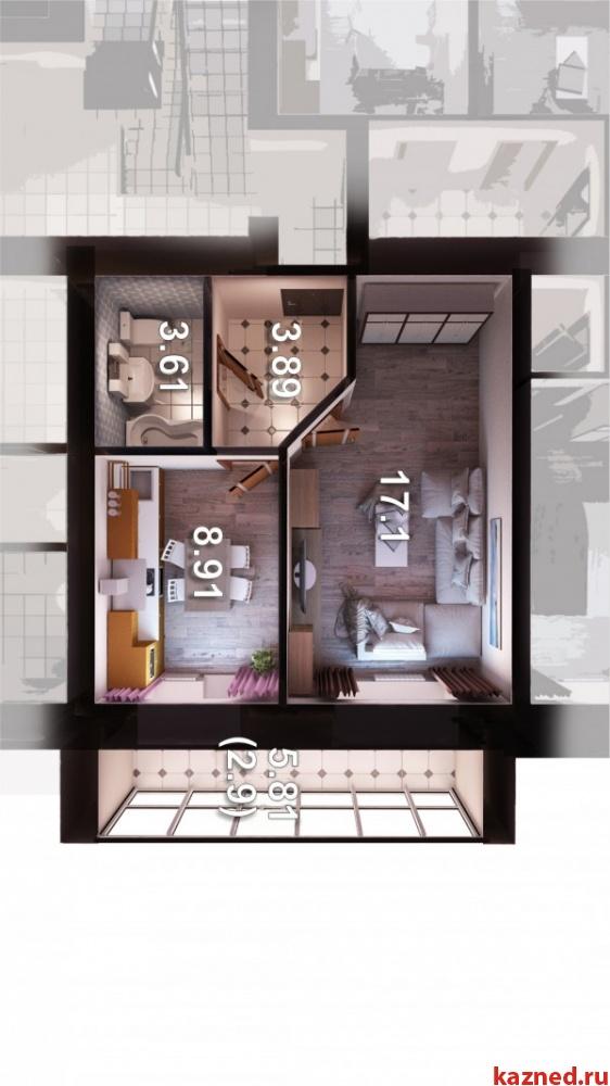 Продажа 1-к квартиры Мамадышский тракт д 1 ЖК Весна, 36 м² (миниатюра №10)