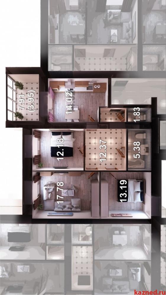 Продажа 3-к квартиры Мамадышский тракт д 1, ЖК Весна, 80 м² (миниатюра №10)