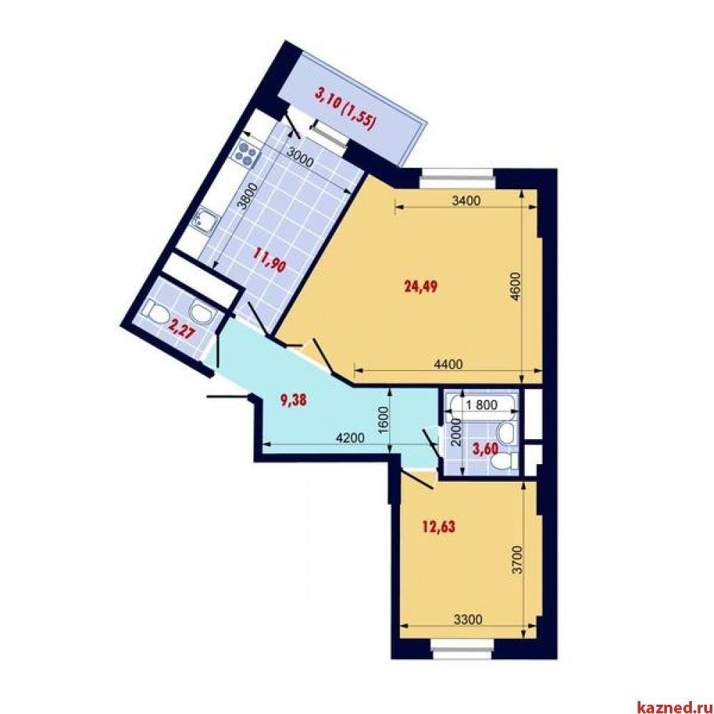 Продажа 2-к квартиры Победы проспект, 139, 66 м²  (миниатюра №2)