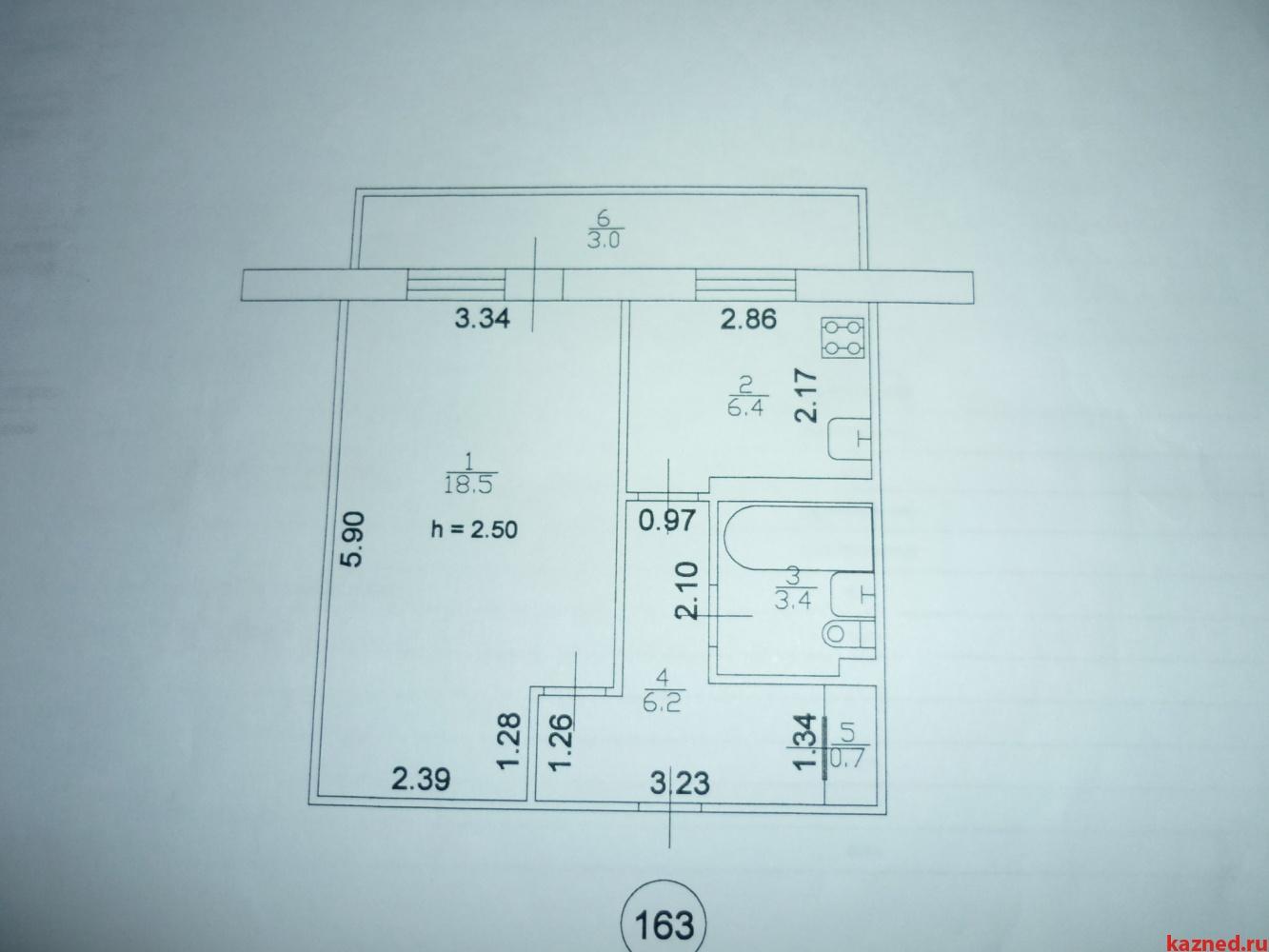 Продам 1-комнатную, по ул. Фатыха Амирхана 53б (миниатюра №9)