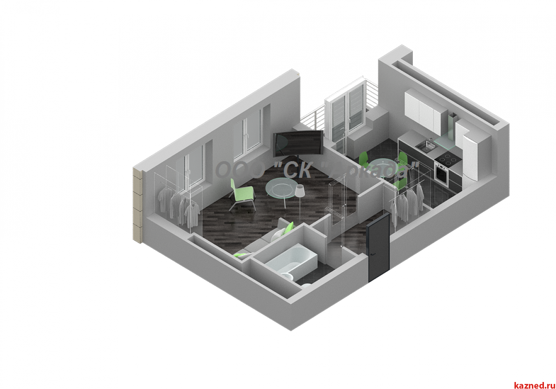 Продажа 1-к квартиры Шуртыгина,  7, 42 м²  (миниатюра №2)