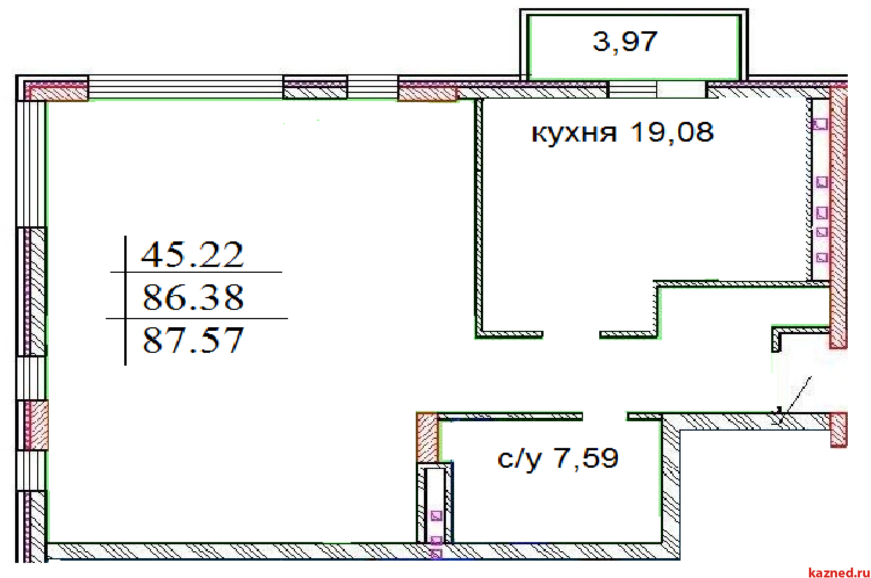 Продажа 3-к квартиры ЖК ИСКРА Шуртыгина д.7, 88 м² (миниатюра №2)