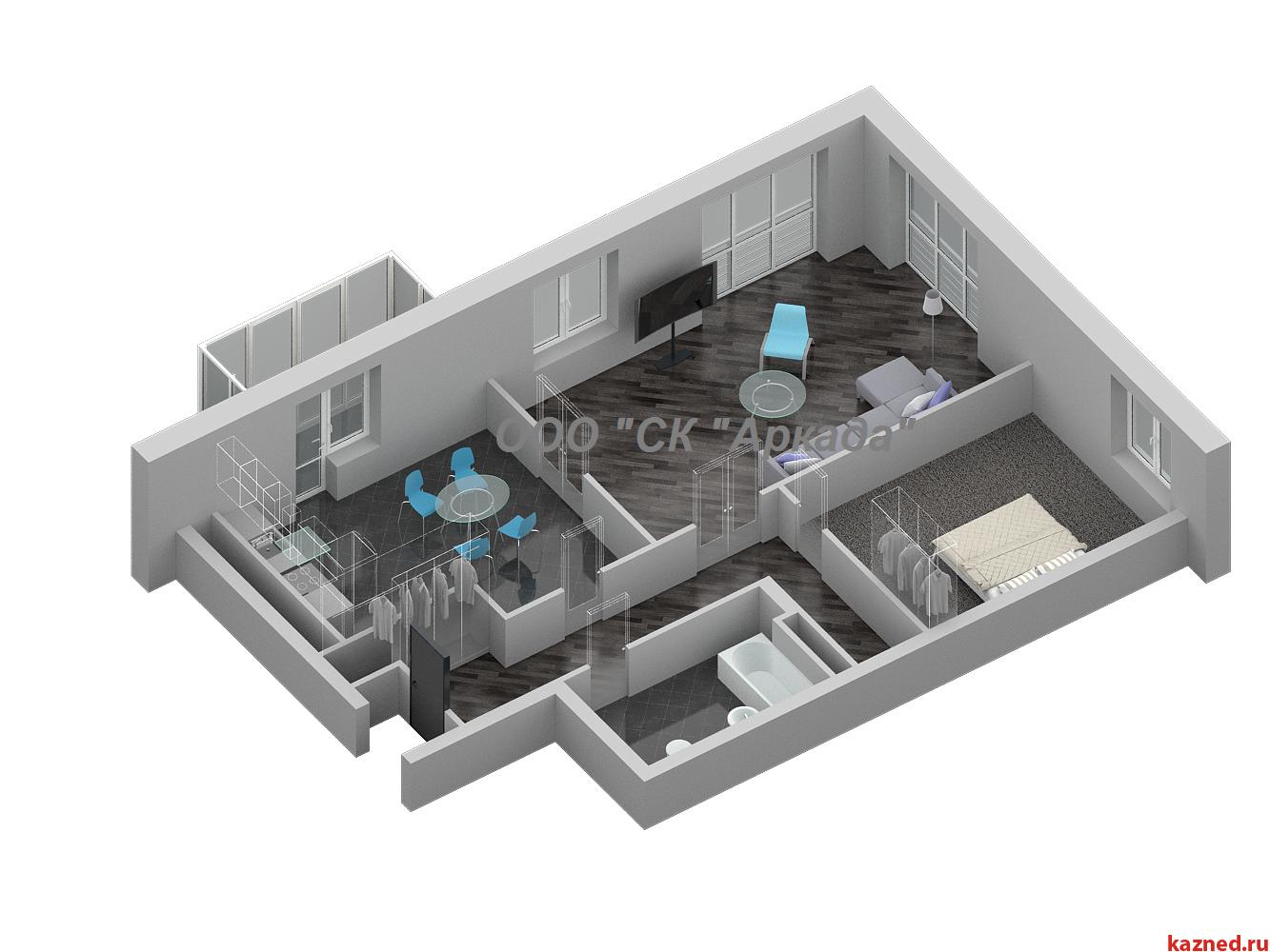 Продажа 3-к квартиры Шуртыгина, д. 7, 88 м2  (миниатюра №1)