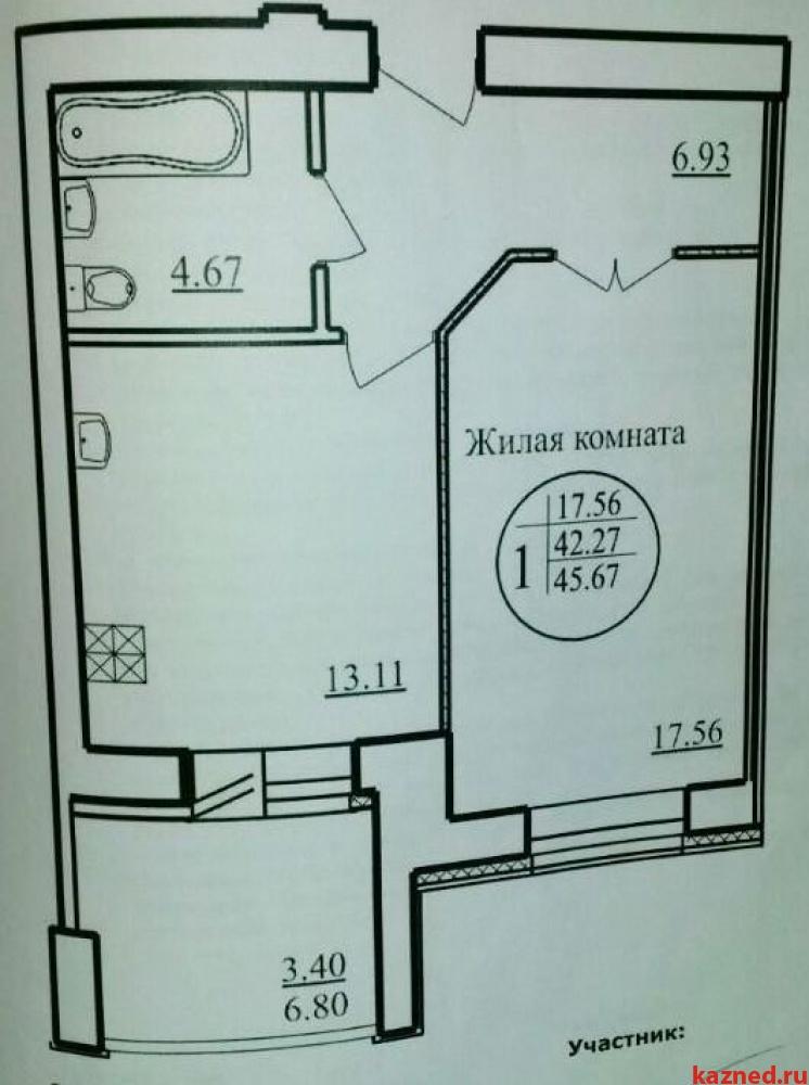 Продам 1-комн.квартиру Павлюхина ул, 99б, 46 м2  (миниатюра №5)