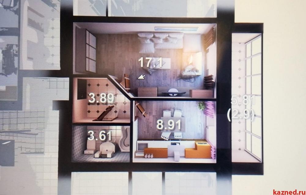 Продажа 1-к квартиры азата аббасова, 37 м² (миниатюра №1)