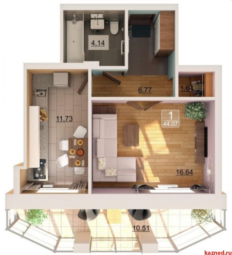 Продажа 1-к квартиры Баки Урманче д.8, 44 м2  (миниатюра №12)