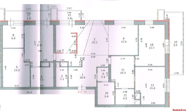 5-ти комнатная квартира 159.8 кв.м. в ЖД «Гринвич», П. Лумумбы, 50 (миниатюра №7)