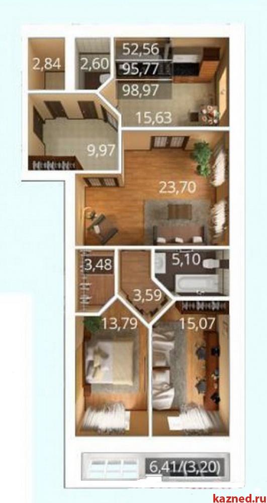 Продажа 3-к квартиры К. Насыри, 44, 94 м²  (миниатюра №13)