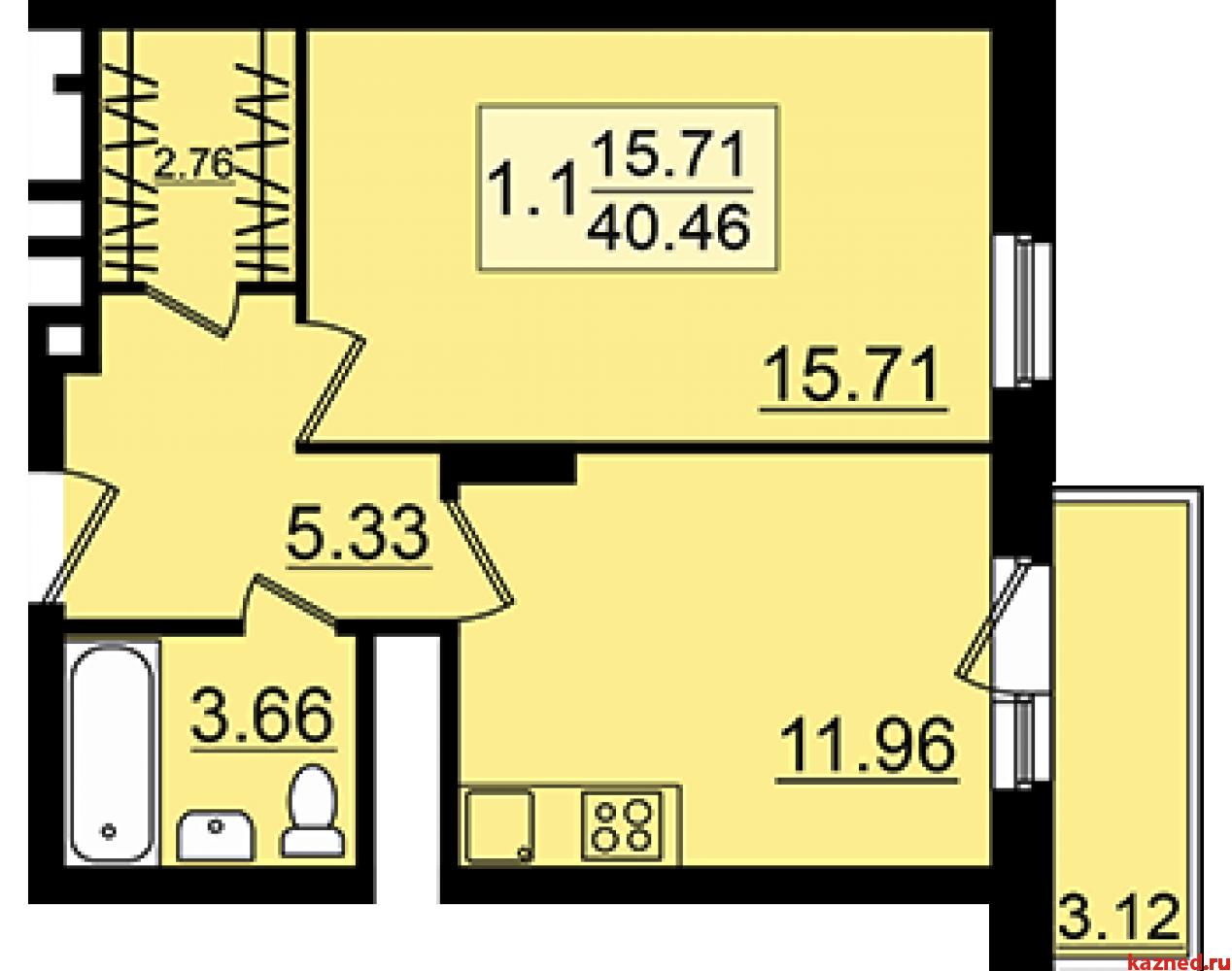 Продажа 1-к квартиры Залесная, 1, 41 м²  (миниатюра №3)