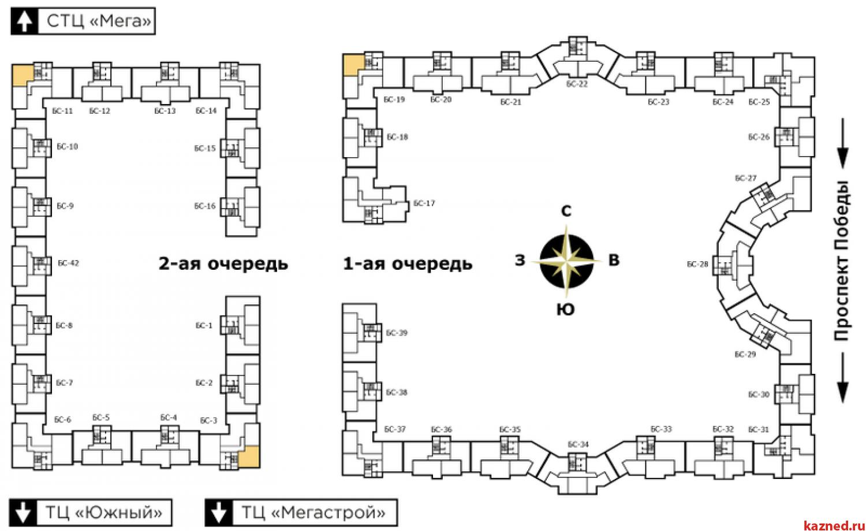 Продажа 2-к квартиры ул.Пр.Победа,139/2, 57 м2  (миниатюра №2)