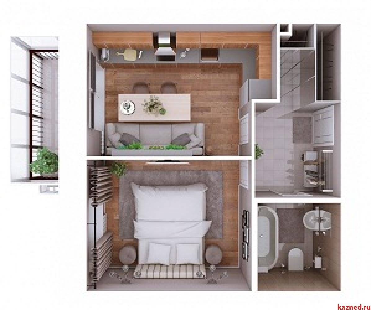 Продажа 1-к квартиры Мамадышский тракт, 3, 38 м² (миниатюра №2)
