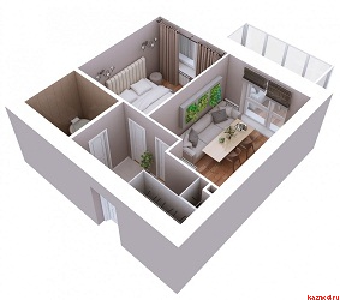 Продажа 1-к квартиры Мамадышский тракт, 3, 38 м² (миниатюра №6)