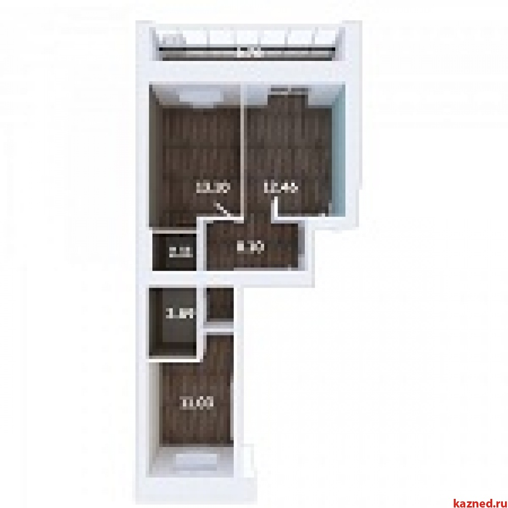 Продажа 2-к квартиры Мамадышский тракт, 3, 54 м²  (миниатюра №1)