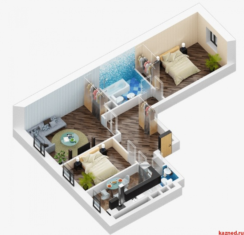 Продажа 3-к квартиры Дубравная 28а, 77 м2  (миниатюра №6)