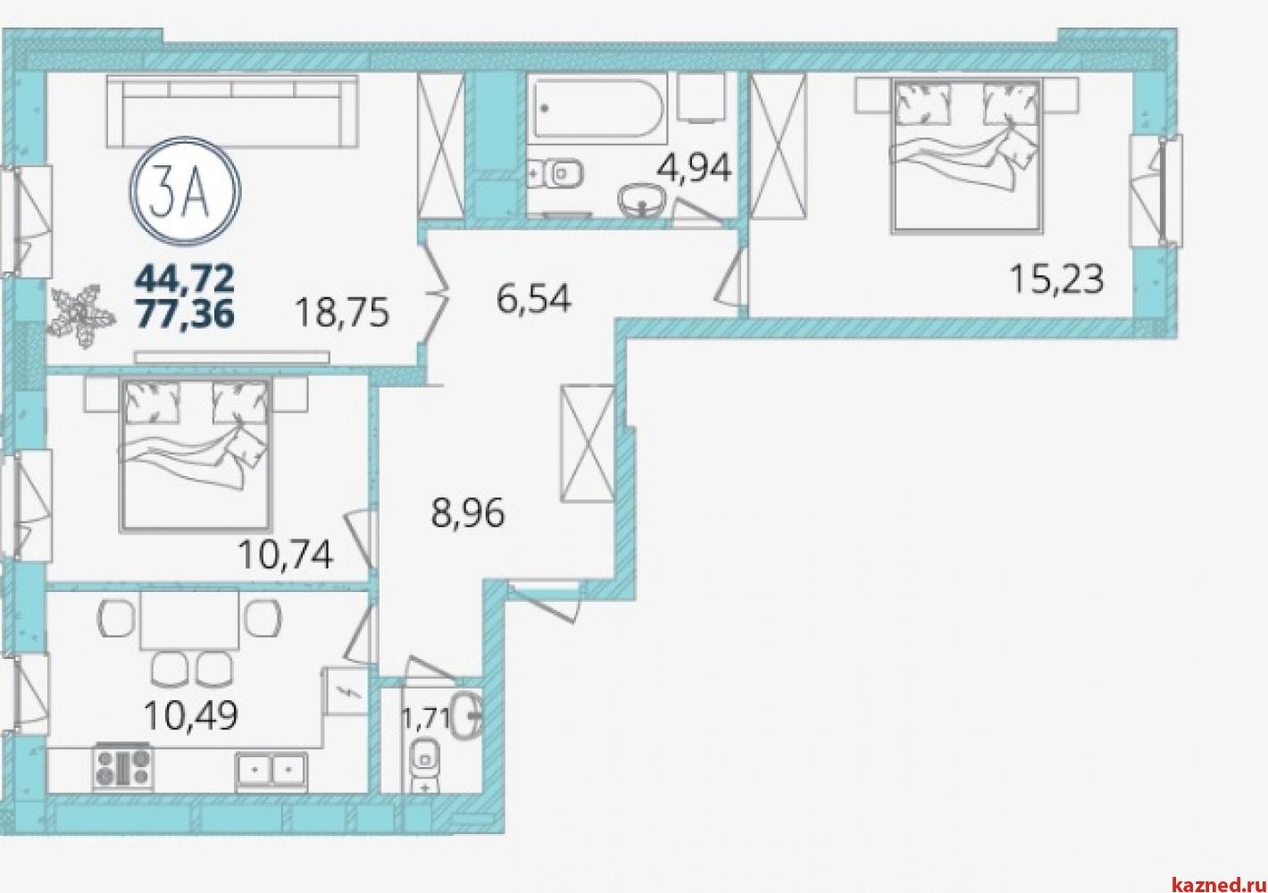 Продажа 3-к квартиры Дубравная 28а, 77 м2  (миниатюра №7)