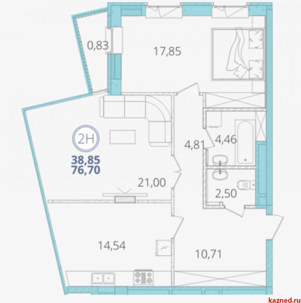 Продажа 2-к квартиры Дубравная, 28А, 77 м² (миниатюра №1)