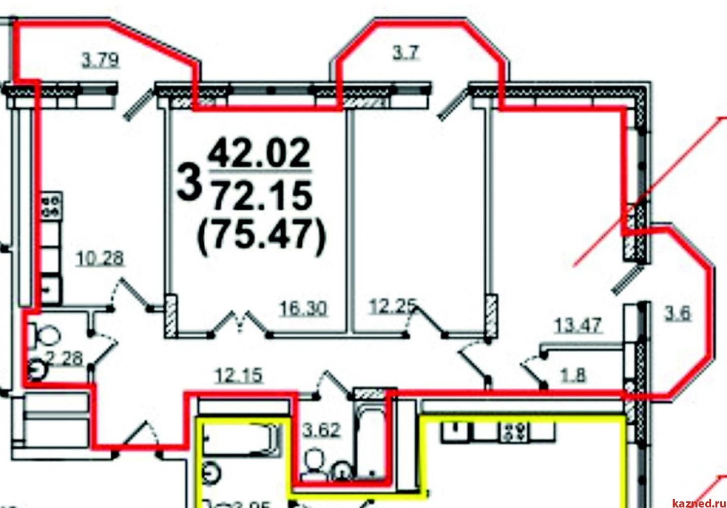 Продажа 3-к квартиры Б.Урманче,6, 75 м²  (миниатюра №1)