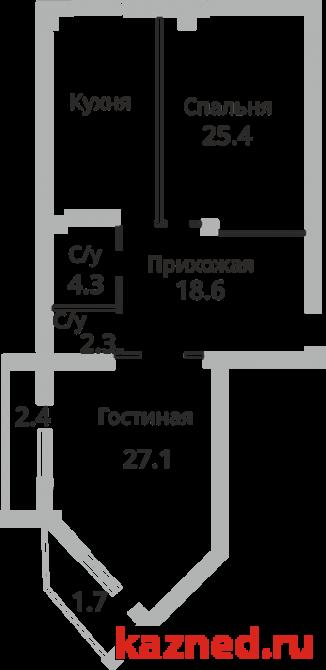 Продажа 2-к квартиры Чистопольская (перекресток с ул.Абсалямова), 100 м2  (миниатюра №5)