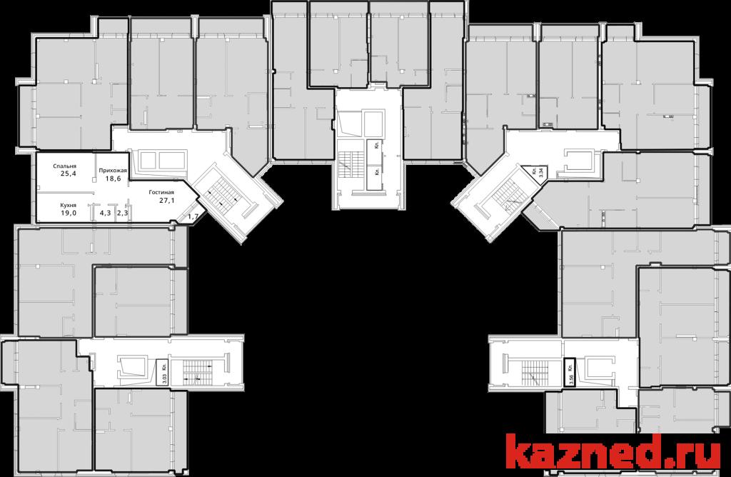 Продажа 2-к квартиры Чистопольская (перекресток с ул.Абсалямова), 100 м2  (миниатюра №6)