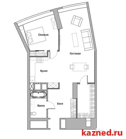 Продажа 2-к квартиры КАМАЛЕЕВА 1 ЖК Лазурные небеса, 120 м2  (миниатюра №4)