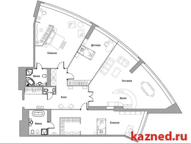 Продажа 4-к квартиры П.Лумубы,38/ЖК Лазурные небеса, 220 м2  (миниатюра №1)