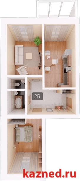 Продажа 2-к квартиры Восстания,129 (ост. Тасма), 77 м²  (миниатюра №4)