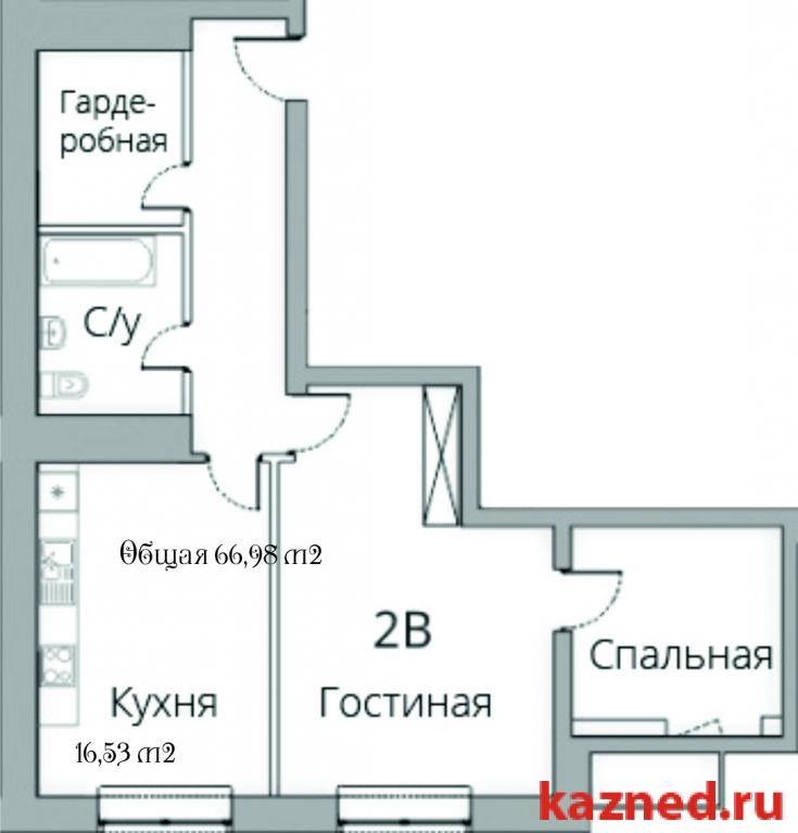 Продажа 2-к квартиры Камая, д.8, 1 очередь, 70 м2  (миниатюра №1)