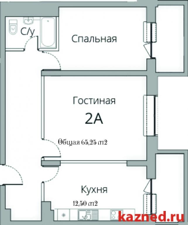 Продам 2-комн.квартиру Камая, д.8, 1 очередь, 69 м2  (миниатюра №2)
