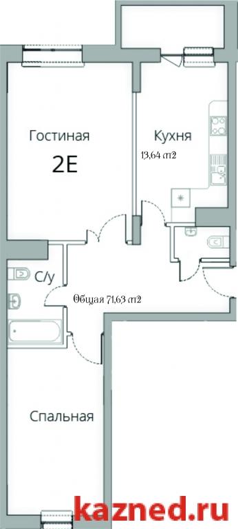 Продажа 2-к квартиры Камая, д.8, 1 очередь, 71 м2  (миниатюра №2)