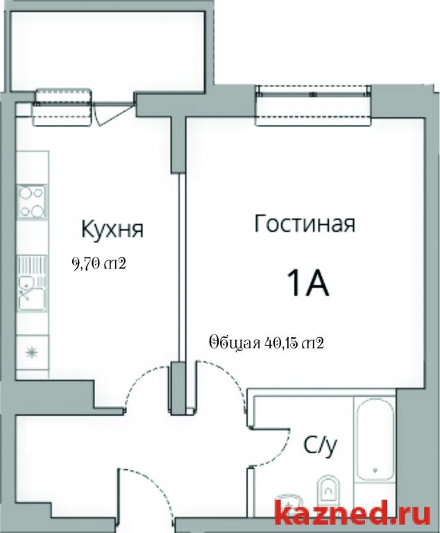 Продажа 1-к квартиры Камая, д.8а, 2 очередь, 46 м2  (миниатюра №2)
