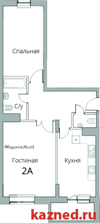 Продажа 2-к квартиры Камая, д.8а, 2 очередь, 72 м²  (миниатюра №2)