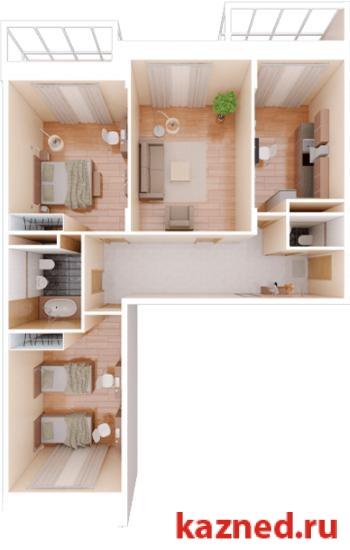 Продажа 3-к квартиры Камая, д.8а, 2 очередь, 104 м² (миниатюра №1)