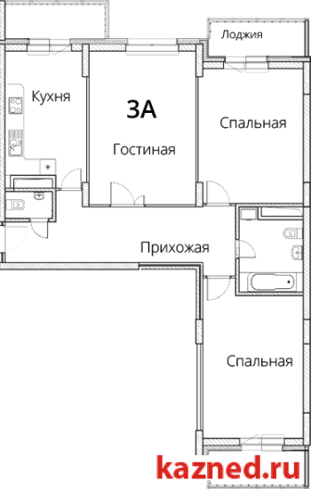 Продажа 3-к квартиры Фучика, 14В, 107 м2  (миниатюра №2)