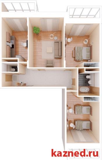 Продажа 3-к квартиры Фучика, 14В, 107 м2  (миниатюра №1)