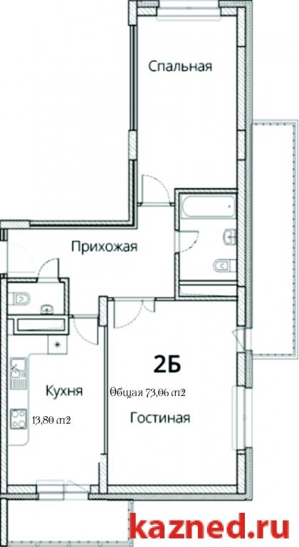 Продажа 2-к квартиры Фучика ,14В, 73 м2  (миниатюра №1)