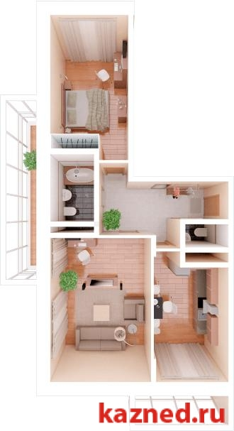 Продажа 2-к квартиры Фучика,14В, 74 м² (миниатюра №1)