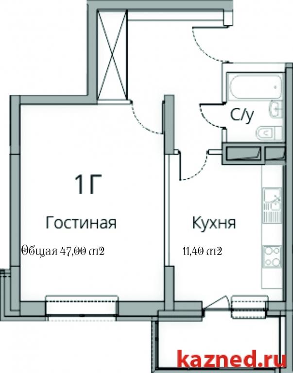 Продам 1-комн.квартиру Камая, д.8а, 2 очередь, 48 м2  (миниатюра №2)