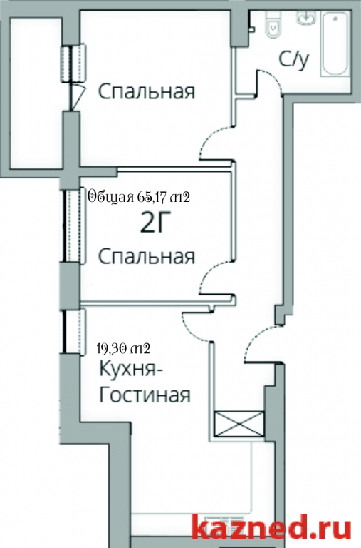 Продажа 2-к квартиры Камая, д.8, 1 очередь, 68 м2  (миниатюра №2)