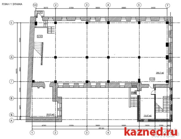 Продажа  офисно-торговые Пушкина, 78, 1039 м² (миниатюра №6)