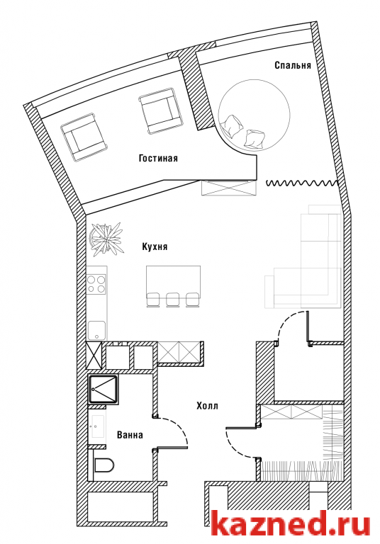 Продажа 1-к квартиры пр А. Камалеева, 1, 78 м2  (миниатюра №3)